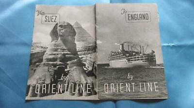 1878-1966 To England by Orient Line on Oronsay Orcades Orion Ormonde or Otranto.