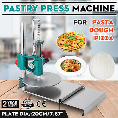 New 7.8inch Pizza Dough Pastry Manual Press Machine Roller Sheeter Pasta Maker