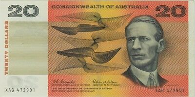 1966 $20 Note Coombs/Wilson R401 about Uncirculated