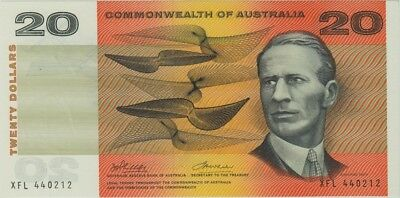 1972 $20 Note Commonwealth of Australia Phillips/Wheeler R404 about Uncirculated