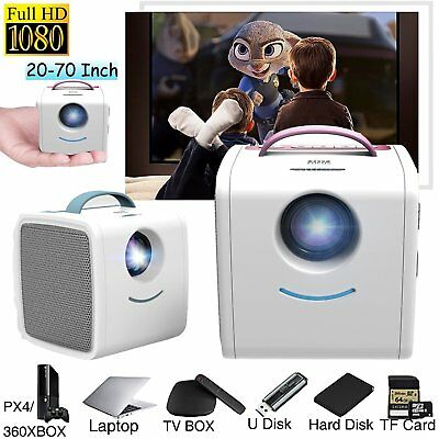 Mini Portable Projector Smart HD 1080P Video Home Theater Cinema USB TF HDMI B2