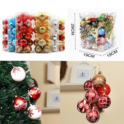 24 X wedding party Baubles Xmas Decoration Bauble 60mm Shatterproof Glitter