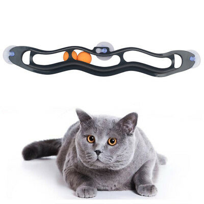 Cat Interactive Track Ball Window Suction Cup Ball Toys Cat Toy Pet Accessories