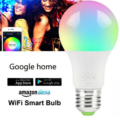 5PACK Smart Bulb Wireless WiFi App Remote Control Light for Alexa Google Home US