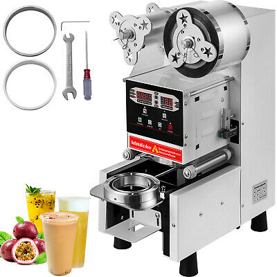 Electric 420W Cup Sealer Sealing Machine Coffee Boba Bubble Tea 500-650 Cups/hr