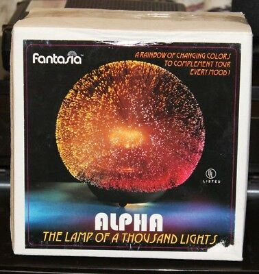 Original Fantasia Alpha glass fiber, fiber optic lamp MIB