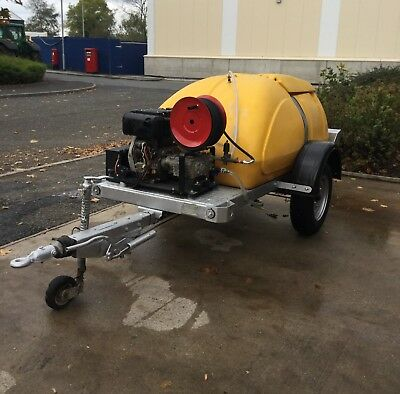 WESTERN TOWABLE 1000L Yanmar L100 Diesel E/Start PRESSURE WASHER WATER BOWSER