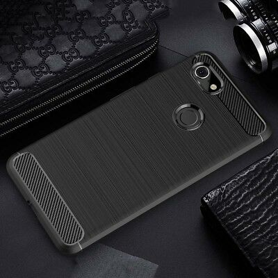 For Google Pixel 3 / 3XL Slim Fiber Carbon Silicone Rugged Protective Cover Case