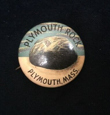 Plymouth Rock Souvenir Pin From 1950s