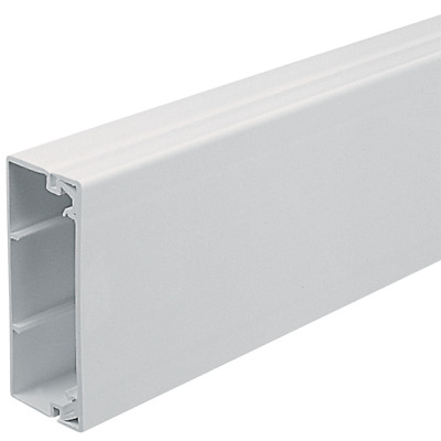 "TRUNKING PVC WHITE /""4 X 4/"" OR 100MM X 100MM VARIOUS LENGTH MAXI HEAVY DUTY"