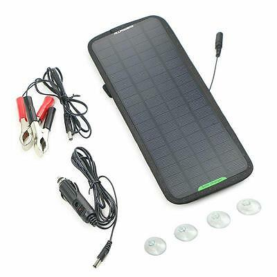 12V 5W Solar Battery Charger Powered Maintainer Car Vehicle Motorbike Yacht Boat