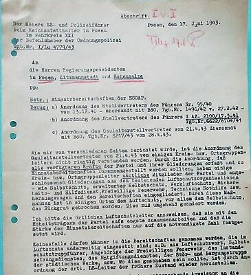 Letter to Government Presidents - Poznan 1943