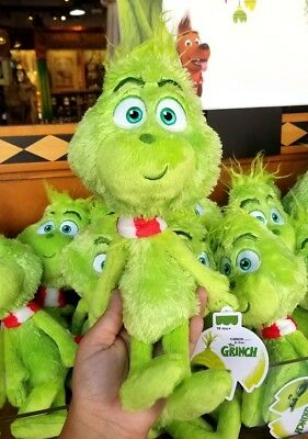 Dr Seuss The Grinch (2018) Universal Studios Parks Plush Cute Young Grinch