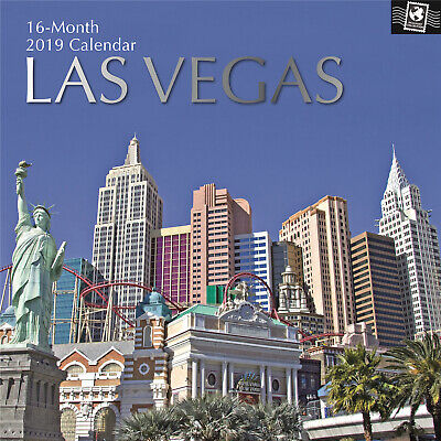 Las Vegas - 2019 Premium Square Wall Calendar 16 Months New Year Christmas Gift