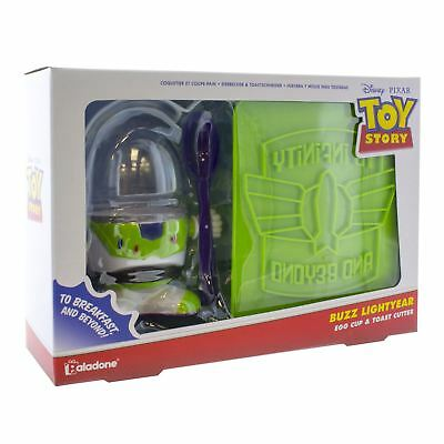 Official Buzz Lightyear Toy Story Egg Cup & Toast Cutter Breakfast Set