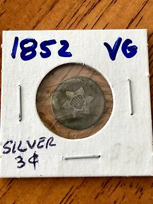 1852 3Cs Us 3 Cent Silver - Vg