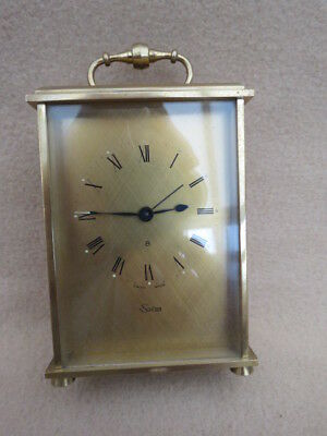Vintage Heavy Brass Swiza 8 Carriage Clock For Tlc