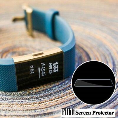 5 pack Soft Tempered Glass Screen Protector Film For Smart Watch Fitbit Charge 2