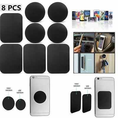 8 Pack Metal Plates Sticker Replace For Magnetic Car Mount Magnet Phone Holder A
