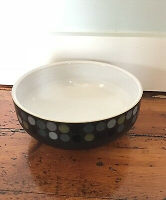 Denby Jet Dots 1 Cereal Bowl Never Used Black Made in England