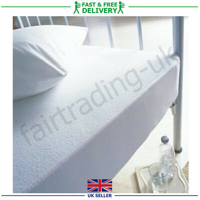 Terry Towell Mattress Pillow Cot Protector Waterproof Bed Sheet Washable