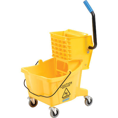 Carlisle 3690804 Mop Bucket & Wringer Combo, 26 Qt, Yellow, Lot of 1