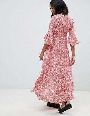 Glamorous Bloom ASOS Maternity Wrap Dress (New without tags) Size 14