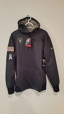 timeless design 2a45d 0649b OAKLAND RAIDERS 2016 Nike Nfl Salute To Service Hoodie Xl