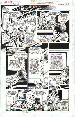 Joe Staton Signed Vintage 1996 Net Squad Orig. Art-Code & Network-Free Shipping!