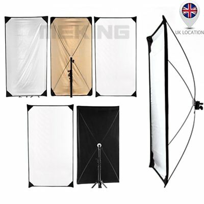 "5 in 1 Flag Reflector Panel 100x180cm 39x71"" Light Control Studio Photography UK"