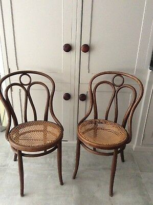 Antique Rare Pair of Original J and J Kohn Bentwood Angel Chairs No 36 Stamped