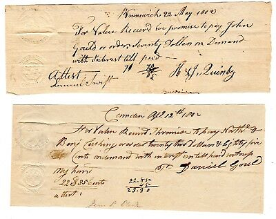 Embossed Revenue Stamped Paper--(Two) Rm 260 A & B--1802 District Of Maine
