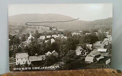 Jamaica Vermont Birds Eye View Antique Divided Back Real Photo Postcard RPPC VT