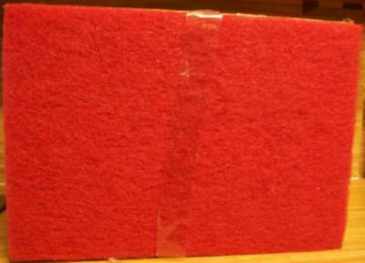 """3M 59258 Red 5100 Buffing Buffer Pad 20"""" x 14"""" x 1"""" Box of 10 NEW"""