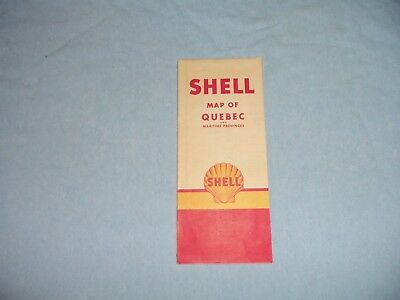 1950's Shell Map of Quebec and Maritime Providences.