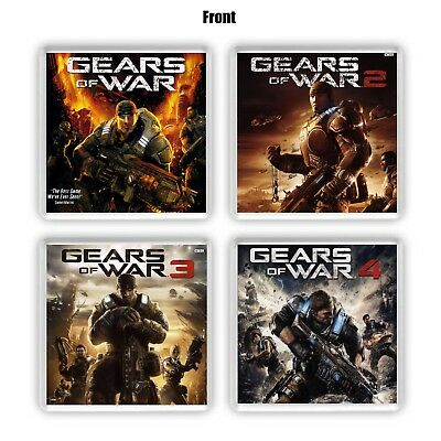 Gears Of War Coaster Collection GOW Game Cases Marcus Fenix Xbox One - Xbox 360
