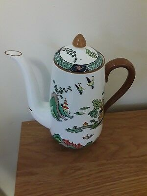 Vintage Crown Staffordshire China Teapot/Coffee Pot 'Chinese Willow' ~ Stunning