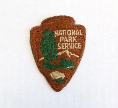 Authentic National Park Service Embroidered Arrowhead Small Uniform Patch NPS