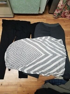 2419ed8ff64d0 Maternity Pants skirt Lot Of 4 Size M Different Brands Pre-Owned