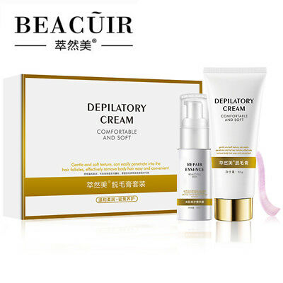 BEACUIR Depilatiry Hair Removal Body Cream Comfortable Effective Soft 2pcs Set