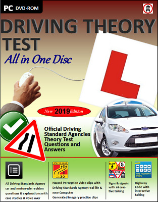 Driving Theory Test All in 1 Disc Valid for 2019 & Hazard Perception CD DVD ROM