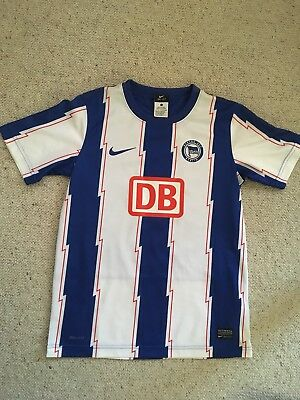 2010-11 Hertha Berlin Home Shirt Youth Large 12-13 Years Excellent Condition