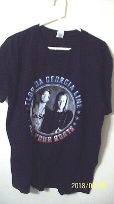 Florida Georia Line t shirt size XL black 2017 tour  Dig Your roots 29 in L 24 i