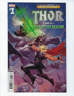 Thor: Road To War Of The Realms #1 (Halloween Comicfest 2018), Nm New