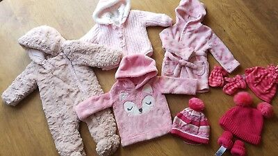 Girls 6-9 Months Clothes Bundle All In One Coat Etc