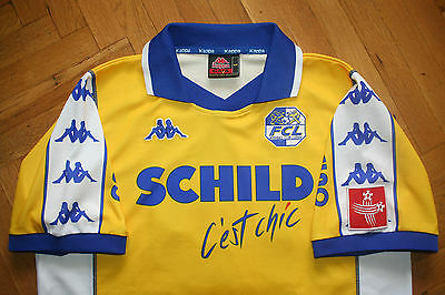 Luzern 2000-2001 Player Issue Enrique 13 Rare Shirt Camiseta Maglia Kappa Sz. L