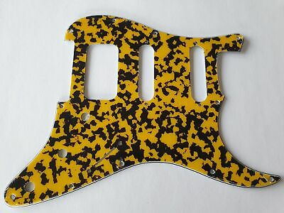 Stratocaster HSS guitar pickguard 4ply yellow black fits fender brand new