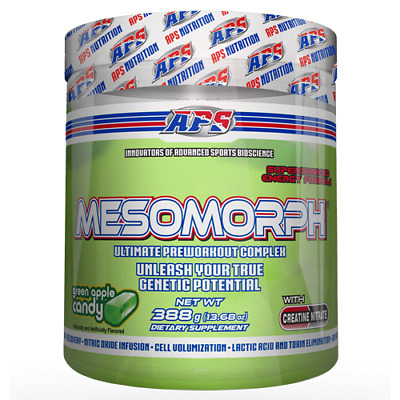 Mesomorph Pre-Workout - Green Apple Candy - 25 Servings By APS Nutrition