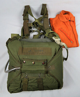 Korean War 1953 Dated Us Navy Switlik Rip Cord Type Seat Parachute With Harness