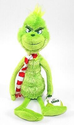 Dr Seuss The Grinch (2018) Universal Studios Parks Plush Tall Grinch w/ Scarf